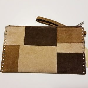 deba14d1c03c MICHAEL Michael Kors Bags - Michael Kors Large Suede Patchwork Zip Clutch
